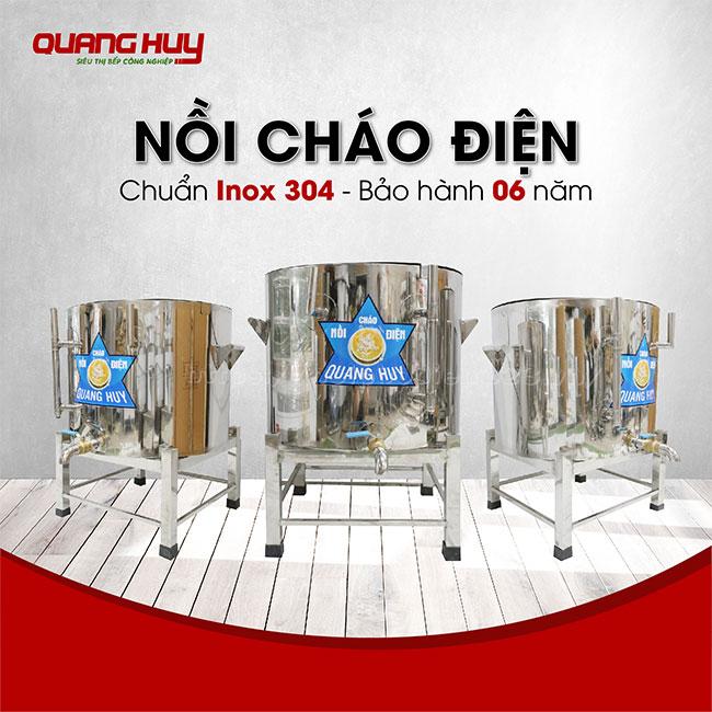 Nồi cháo điện Quang Huy - Chuẩn Inox 304, bảo hành 6 năm