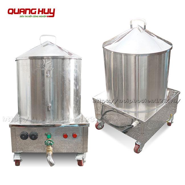 Nồi làm bánh cuốn bằng điện Quang Huy Inox 304 bền