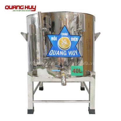 Nồi nấu cháo công nghiệp 40 lít Quang Huy