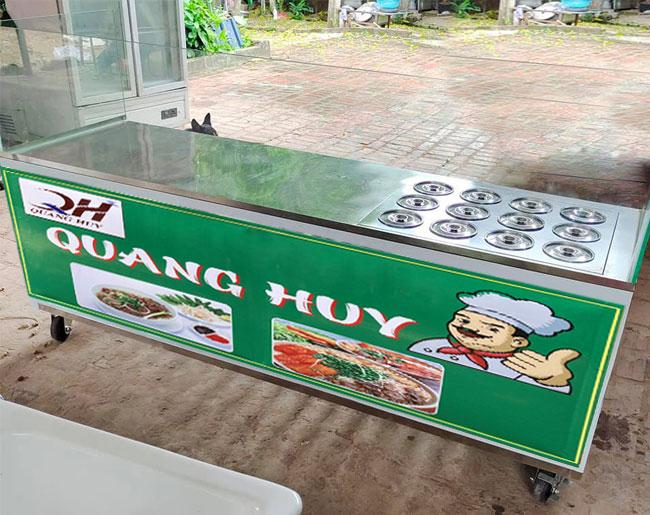 Tủ bán cháo dinh dưỡng Inox 304 Quang Huy