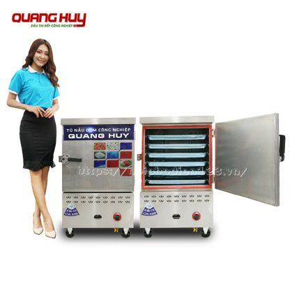 Tủ cơm dùng điện gas 6 khay công nghiệp Quang Huy