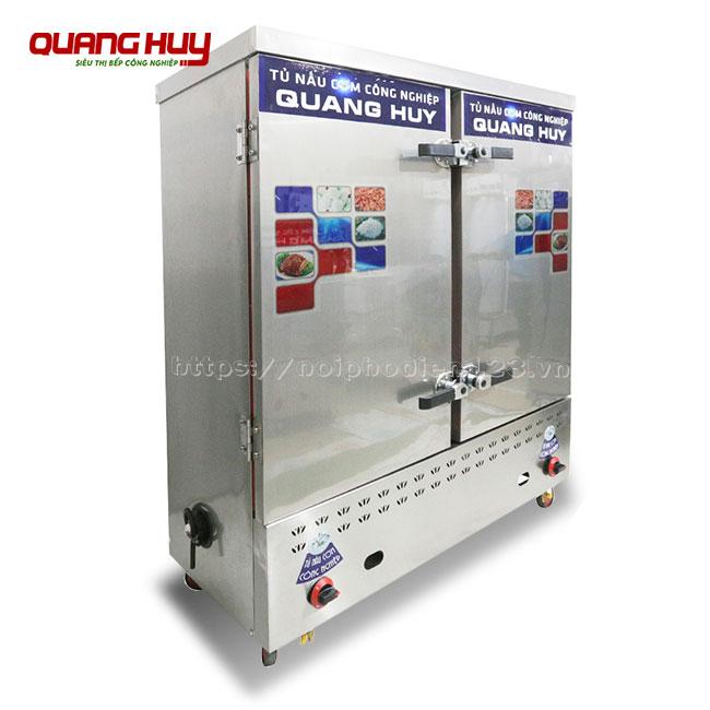 Tủ điện gas nấu cơm công nghiệp 24 khay Quang Huy