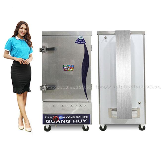 Tủ hấp cơm 8 khay dùng gas Quang Huy