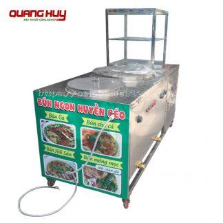Tủ kính bán bún cá, hải sản Inox 304 Quang Huy