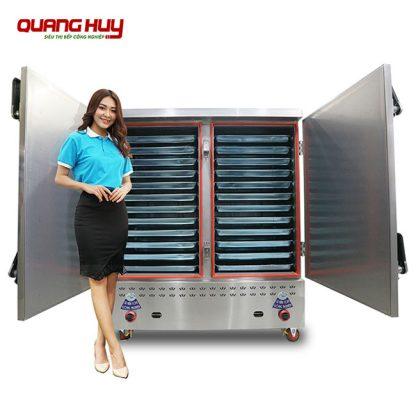 Tủ nấu cơm điện gas 24 khay Quang Huy