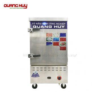 Tủ nấu cơm điện gas công nghiệp 6 khay Quang Huy đa năng tiện lợi
