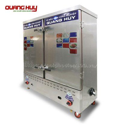 Tủ nấu cơm, hấp thực phẩm công nghiệp 24 khay điện gas Quang Huy