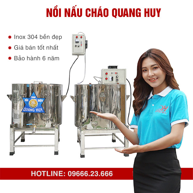 Nồi cháo công nghiệp Quang Huy - Lựa chọn số 1 cho quán cháo, nhà hàng, bếp công nghiệp