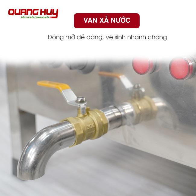 Van xả nước đóng mở dễ dàng, vệ sinh nhanh chóng