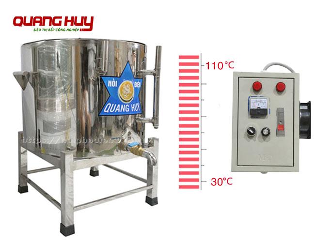 Nồi súp điện điều chỉnh nhiệt độ từ 30-110 độ C qua tủ điện