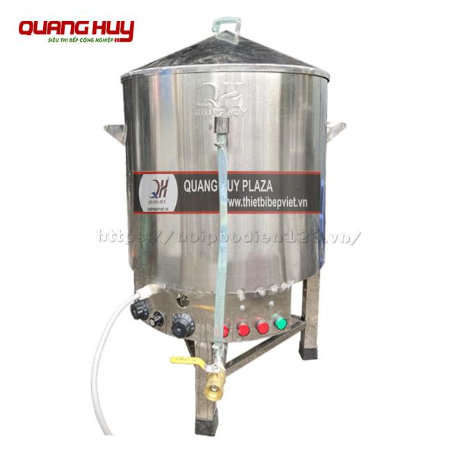 Nồi hấp điện công nghiệp Inox 304 Quang Huy