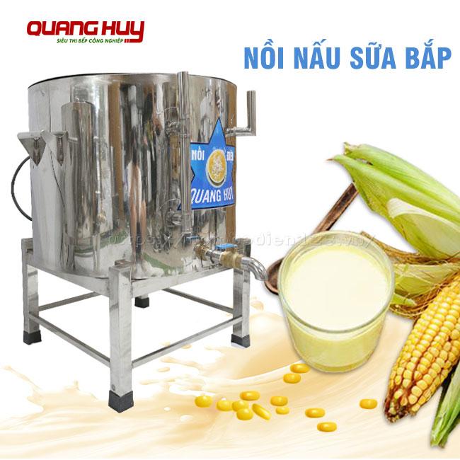 Nồi nấu sữa bắp Inox Quang Huy