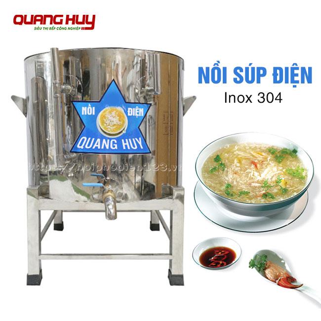 Nồi nấu súp bằng điện Inox 304 do Quang Huy sản xuất