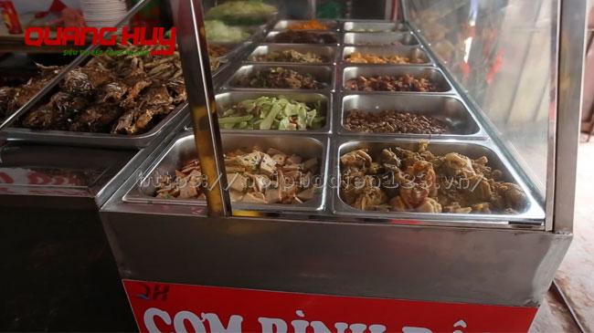 Tủ hâm nóng thức ăn cho quán cơm, nhà hàng