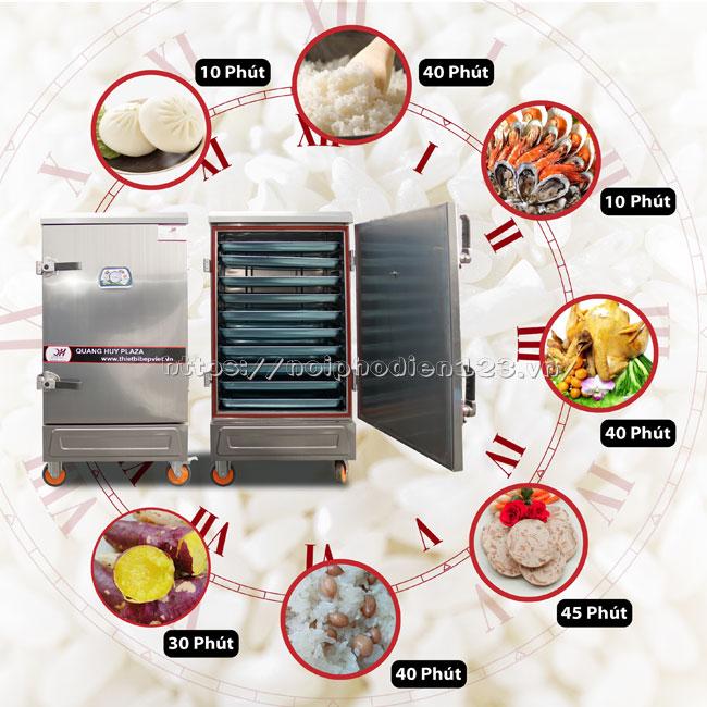 Tủ hấp nấu thực phẩm đa năng, chế biến nhiều món ăn