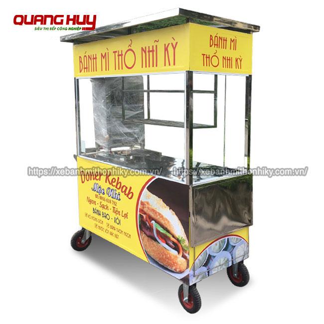 Xe bánh mì Thổ Nhĩ Kỳ Inox 304 thiết kế tại xưởng Quang Huy