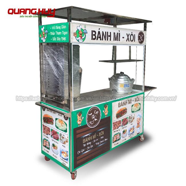 Xe đẩy bán xôi bánh mì Quang Huy