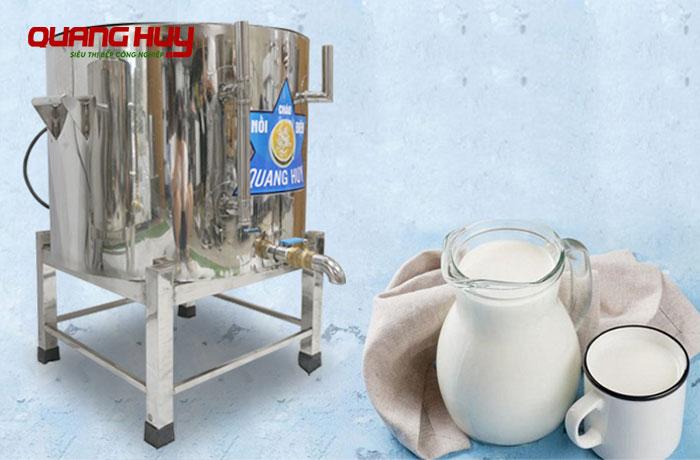 Nồi nấu sữa đậu nành Inox điện Quang Huy