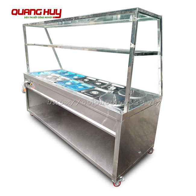Tủ bán cơm hâm nóng tích hợp 2 nồi điện