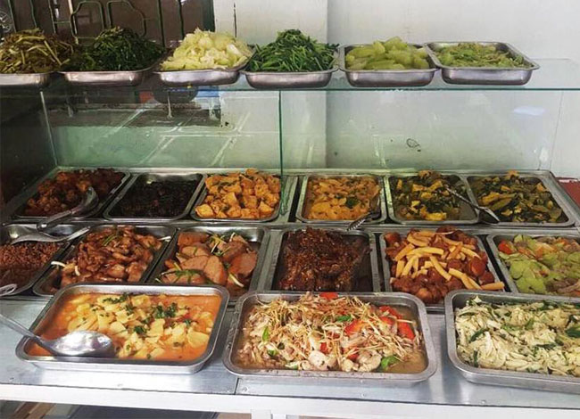 Tủ bán cơm hâm nóng thức ăn cho quán cơm, kinh doanh, bếp công nghiệp