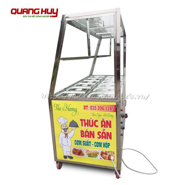 Tủ giữ nhiệt thức ăn 12 khay Quang Huy gia công và phân phối giá tại xưởng