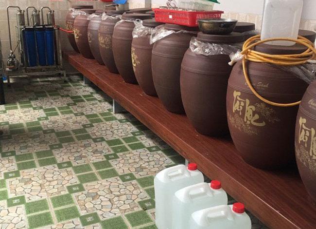 Cơ sở nấu rượu gạo số lượng lớn
