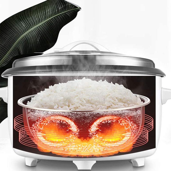 Nguyên lý vận hành nồi nấu cơm công nghiệp