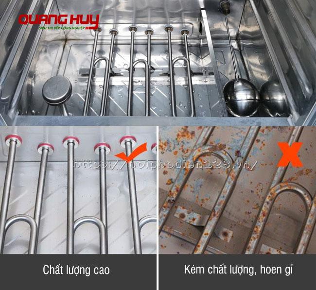 Thanh nhiệt tủ nấu cơm cũ bị hoen gỉ, không đảm bảo công suất hoạt động