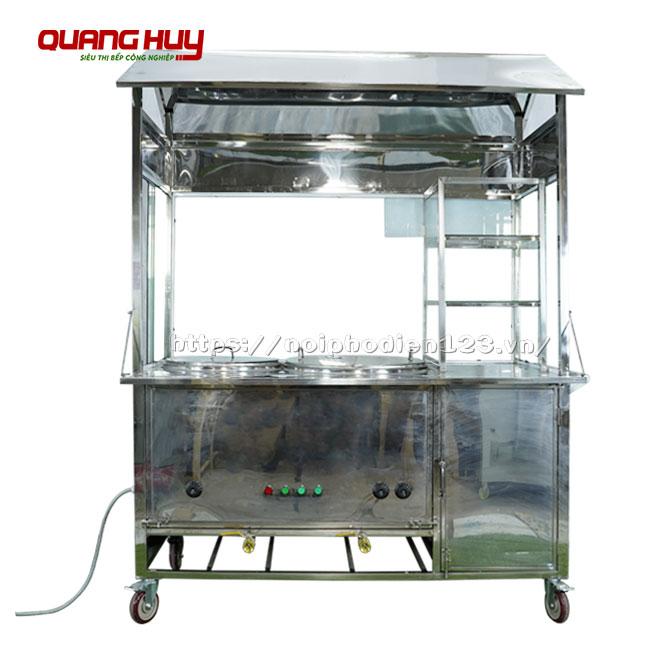 Thiết kế tủ kính phở bò khoa học