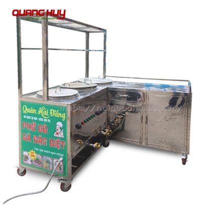 Tủ bán hàng, bún phở, quầy chữ L Quang Huy