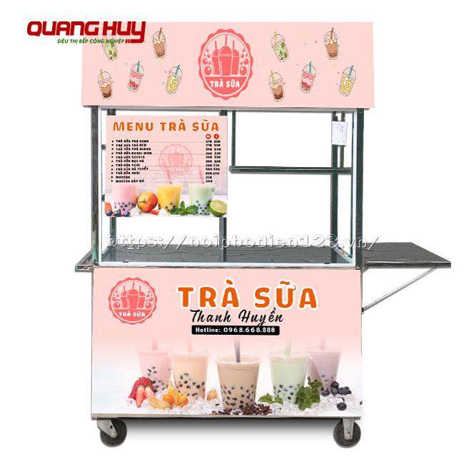 Tủ bán trà sữa đẹp giá rẻ Quang Huy