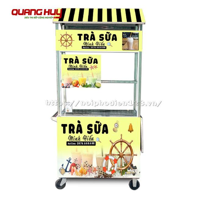 Tủ bán trà sữa di động, thiết kế theo yêu cầu tại Quang Huy