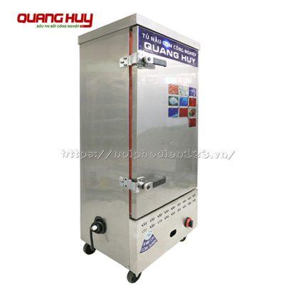 Tủ cơm công nghiệp 12 khay dùng điện gas tích hợp nhập khẩu