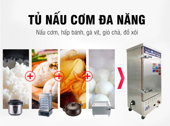 Tủ nấu cơm đa năng hấp xôi, gà vịt, hải sản, giò chả