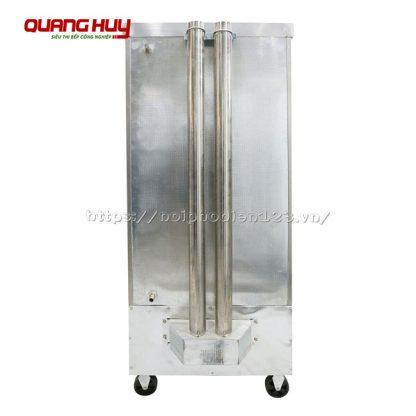 Van xả áp, ống dẫn khí, ống dẫn nước phía sau tủ nấu cơm 12 khay bằng điện gas