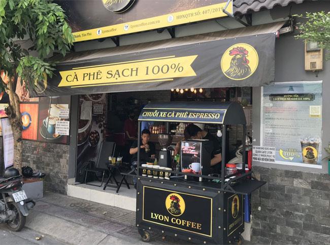 Xe cafe take away thích hợp đặt tại quán và bán hàng lưu động