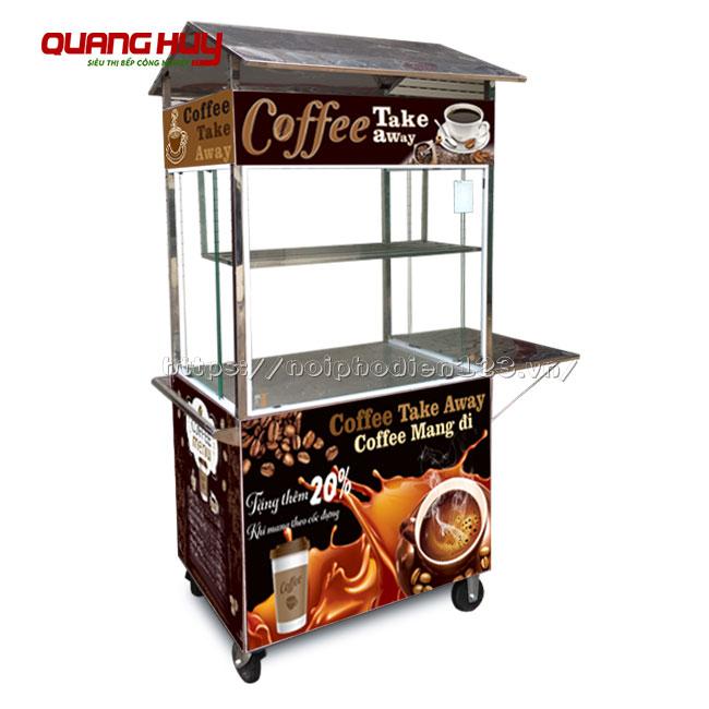 Xe đẩy cafe take away mini di động