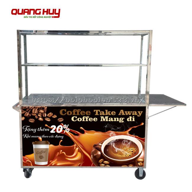 Thiết kế xe đẩy cà phê lưu động không mái che