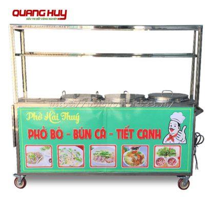 Xe phở bộ 3 nồi điện Quang Huy