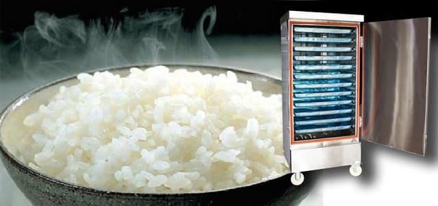 Cơm dẻo ngon hạn chế khê cháy khi sử dụng nồi hấp cơm công nghiệp