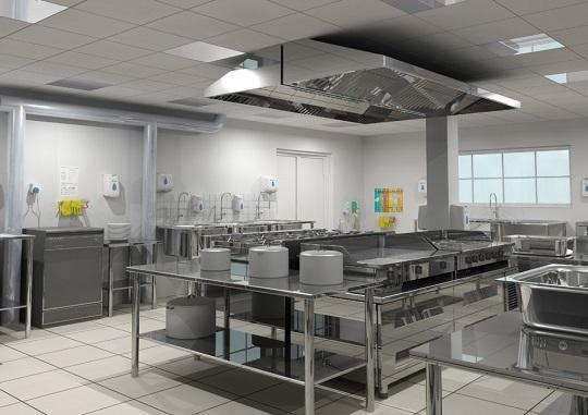 Lắp đặt tủ hấp nấu cơm thực phẩm trong căng tin trường học, nhà hàng