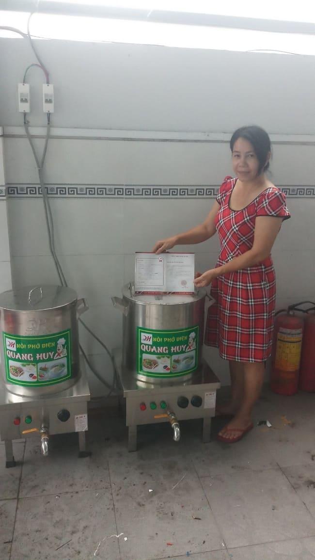 feedback khách hàng sử dụng nồi phở Quang Huy
